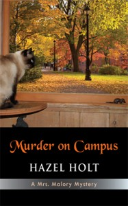 Murder on Campus, Hazel Holt, Mrs. Malory, Mystery, Series